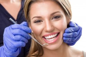 woman smiling dental visit